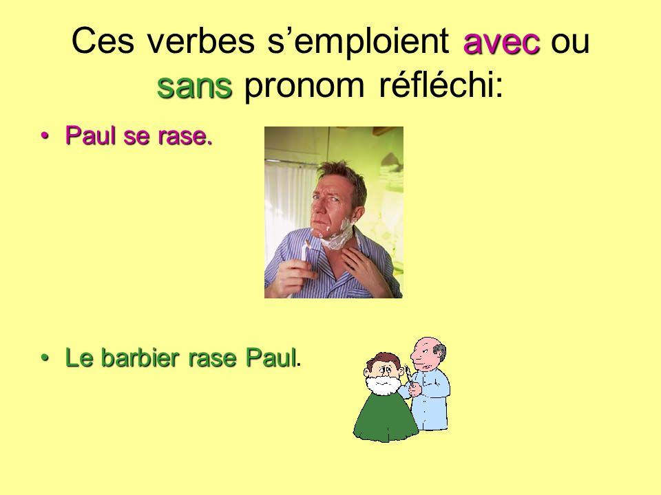 Ces verbes s'emploient avec ou sans pronom réfléchi: