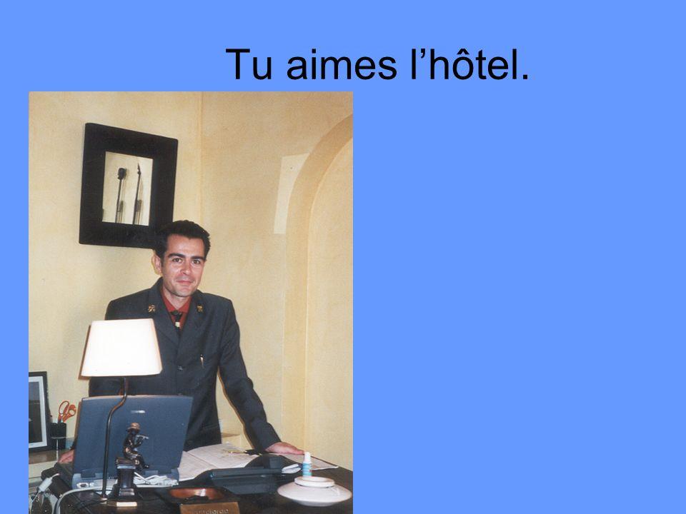 Tu aimes l'hôtel.