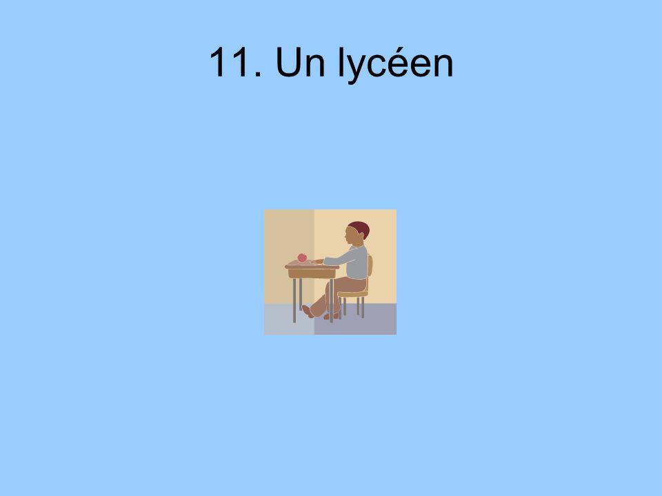 11. Un lycéen