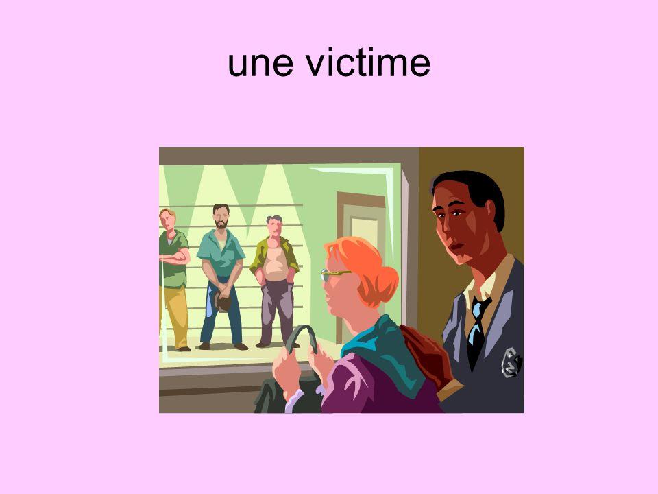 une victime