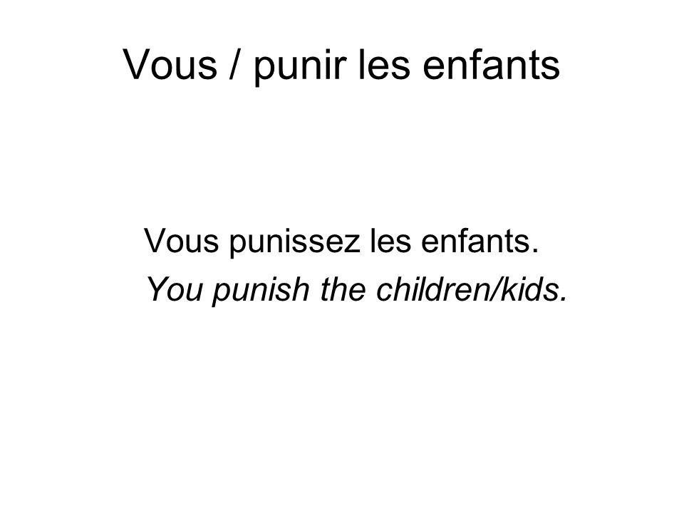 Vous / punir les enfants