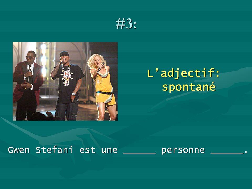 Gwen Stefani est une ______ personne ______.