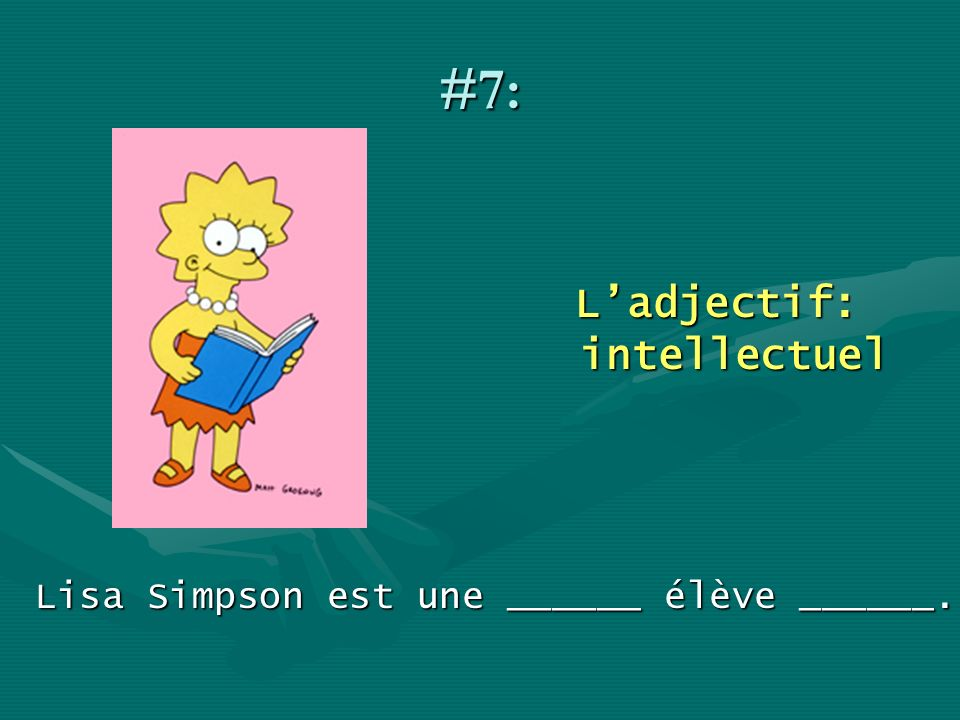 L'adjectif: intellectuel