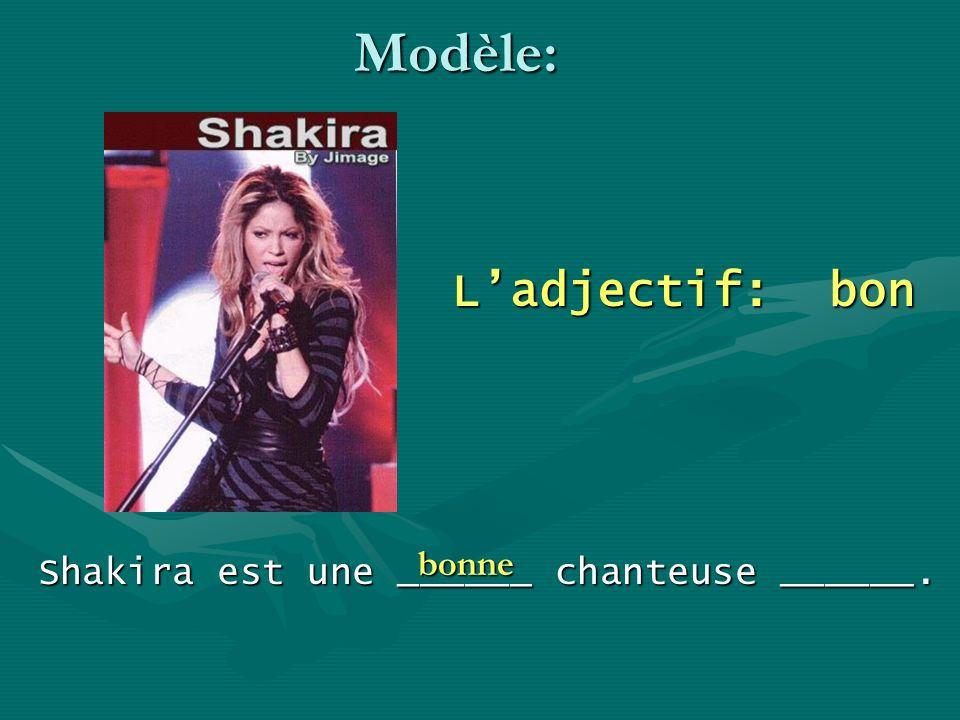 Shakira est une ______ chanteuse ______.