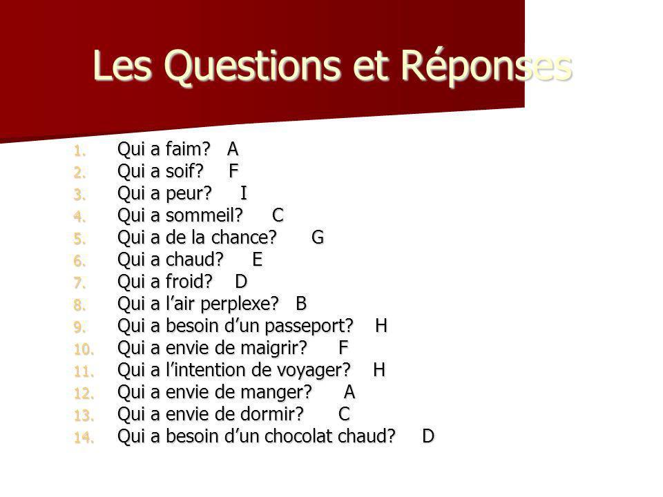 Les Questions et Réponses
