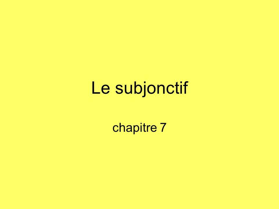 Le subjonctif chapitre 7
