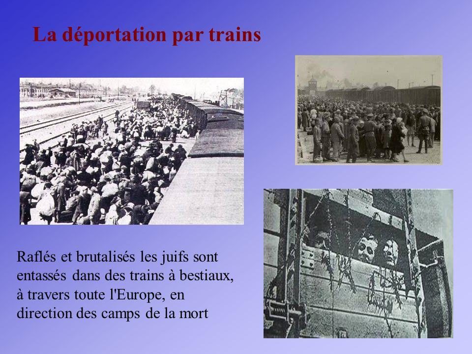 La déportation par trains