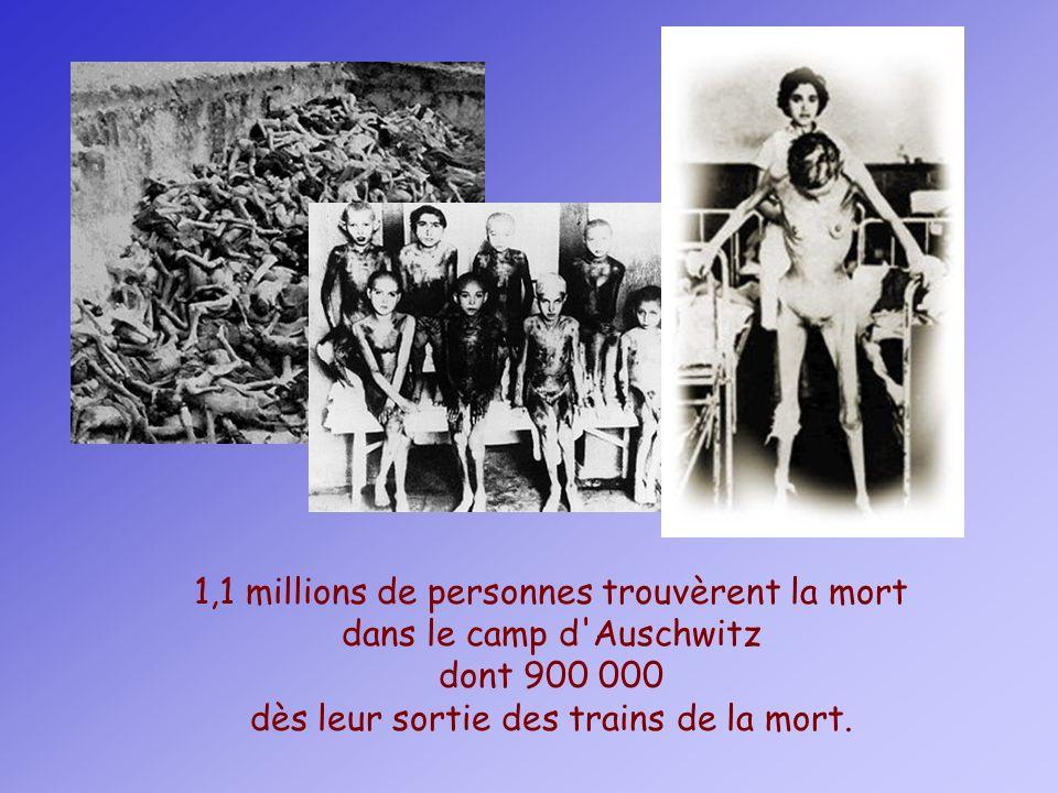 1,1 millions de personnes trouvèrent la mort dans le camp d Auschwitz