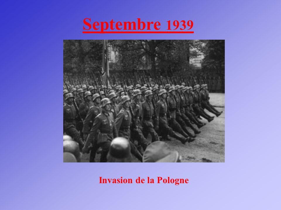 Septembre 1939 Invasion de la Pologne