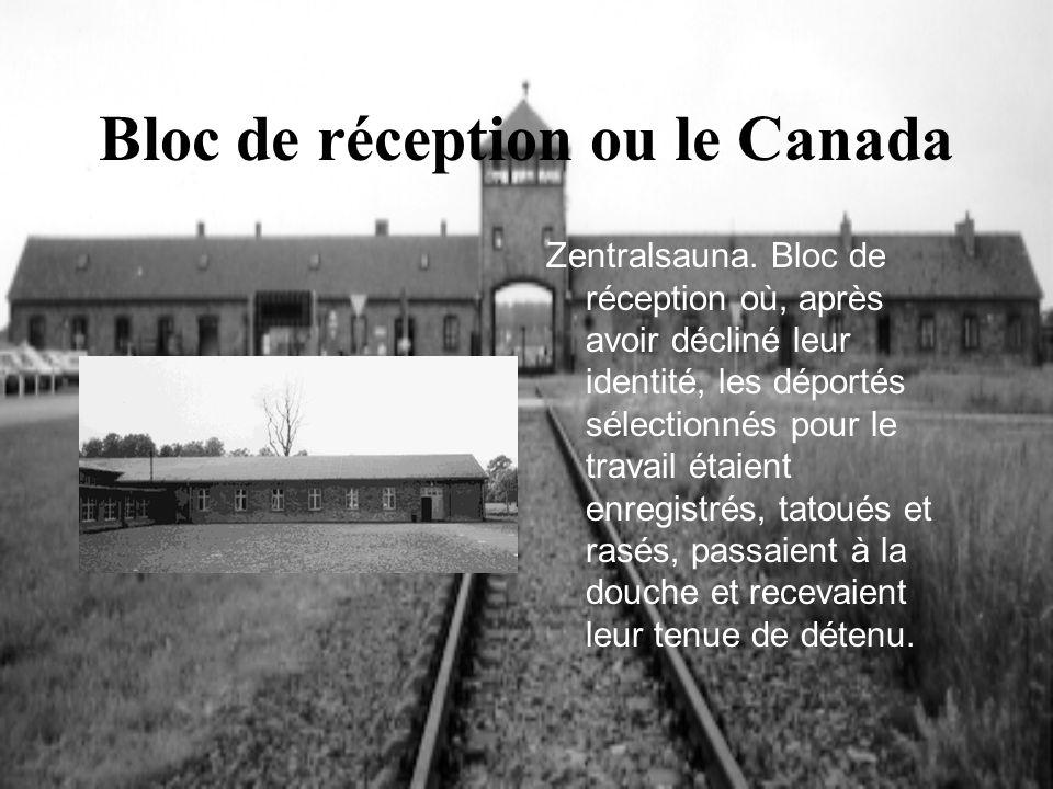 Bloc de réception ou le Canada
