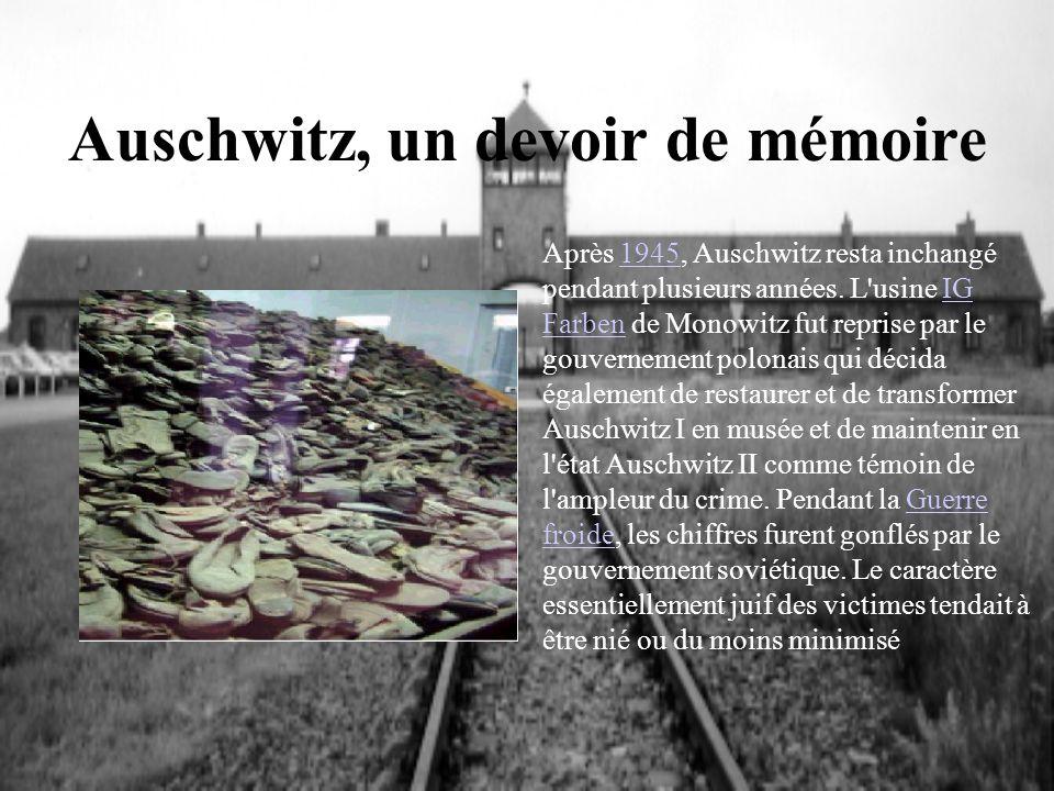 Auschwitz, un devoir de mémoire
