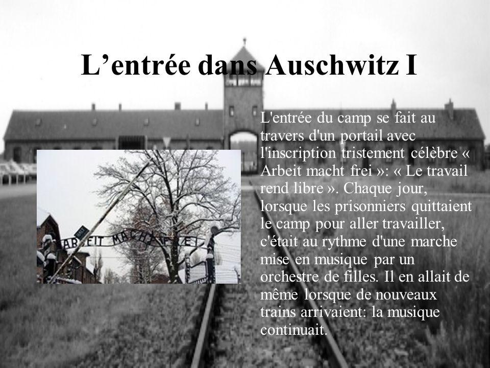 L'entrée dans Auschwitz I