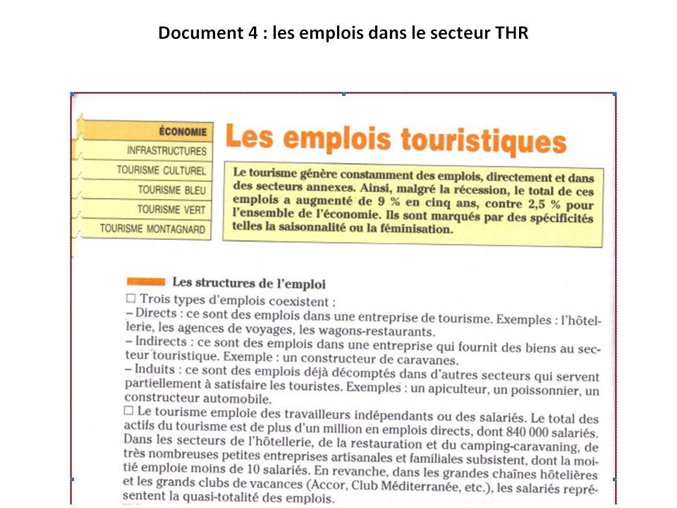 les emplois en THR Document 4
