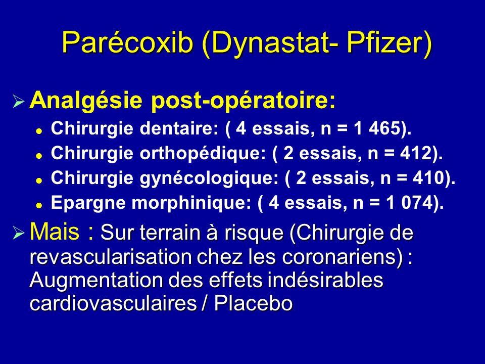 Parécoxib (Dynastat- Pfizer)