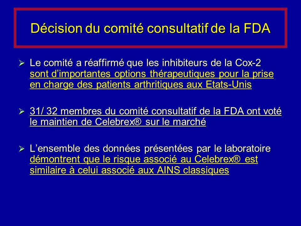 Décision du comité consultatif de la FDA
