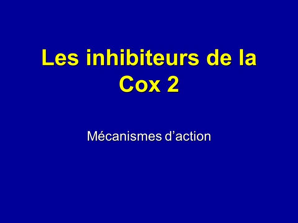 Les inhibiteurs de la Cox 2