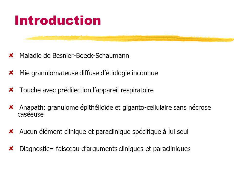 Introduction Maladie de Besnier-Boeck-Schaumann