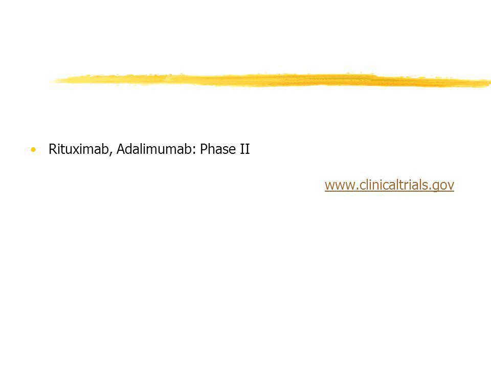 Rituximab, Adalimumab: Phase II