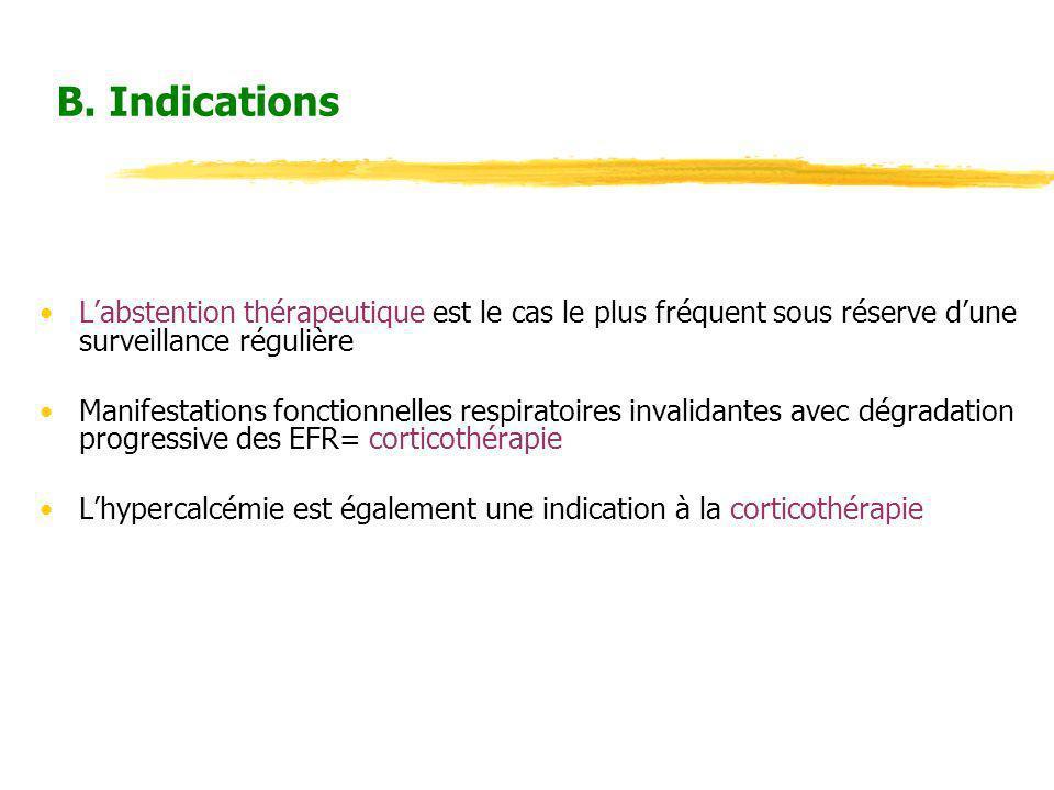 B. Indications L'abstention thérapeutique est le cas le plus fréquent sous réserve d'une surveillance régulière.