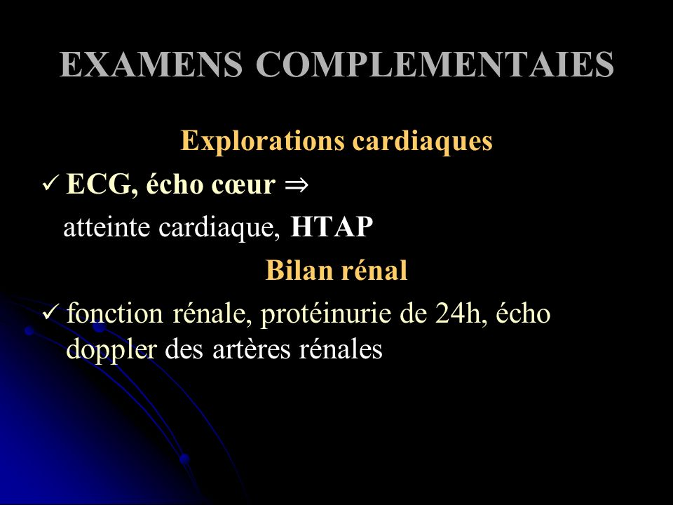 EXAMENS COMPLEMENTAIES