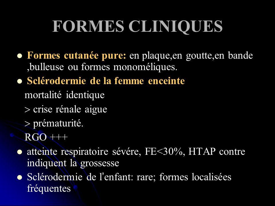 FORMES CLINIQUES Formes cutanée pure: en plaque,en goutte,en bande ,bulleuse ou formes monoméliques.