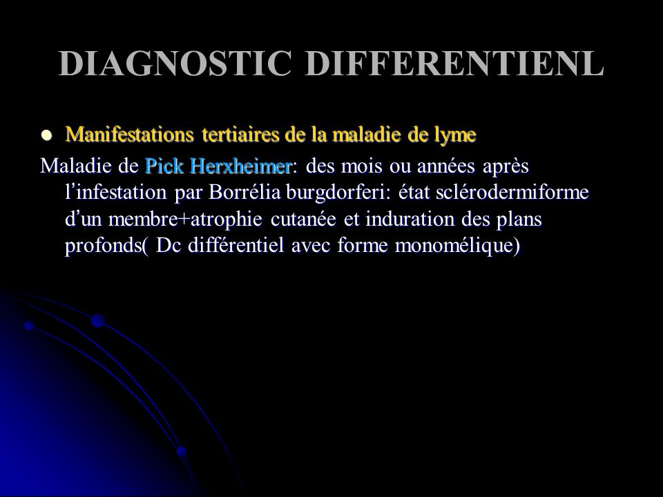 DIAGNOSTIC DIFFERENTIENL