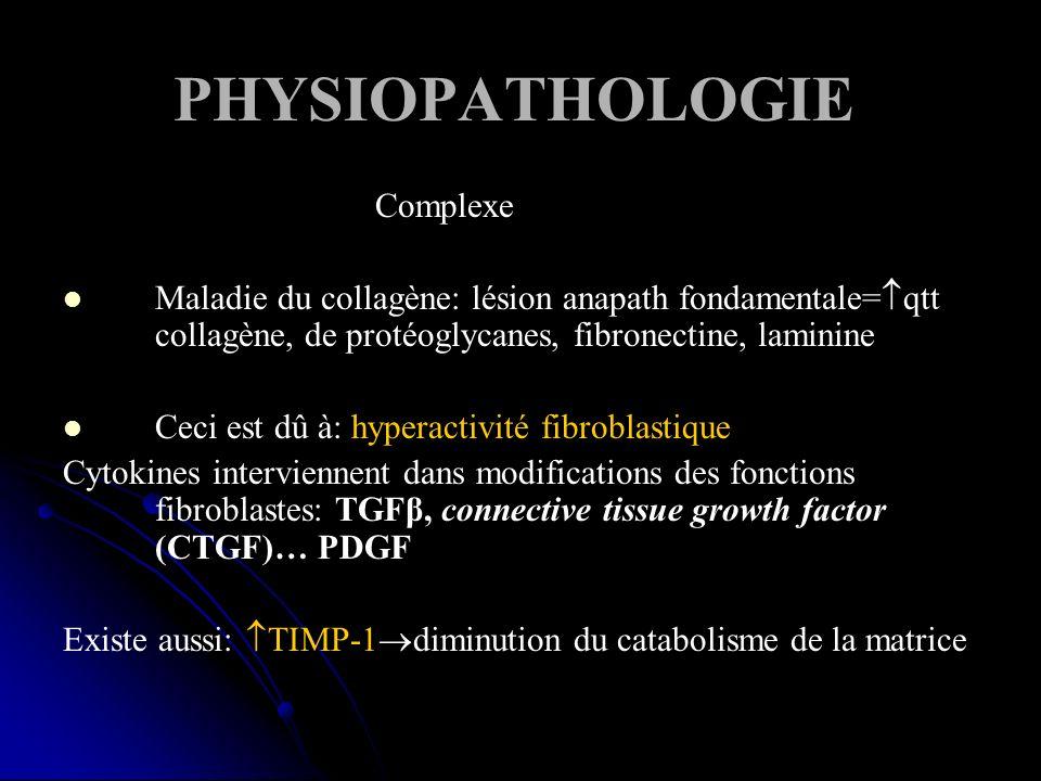PHYSIOPATHOLOGIE Complexe