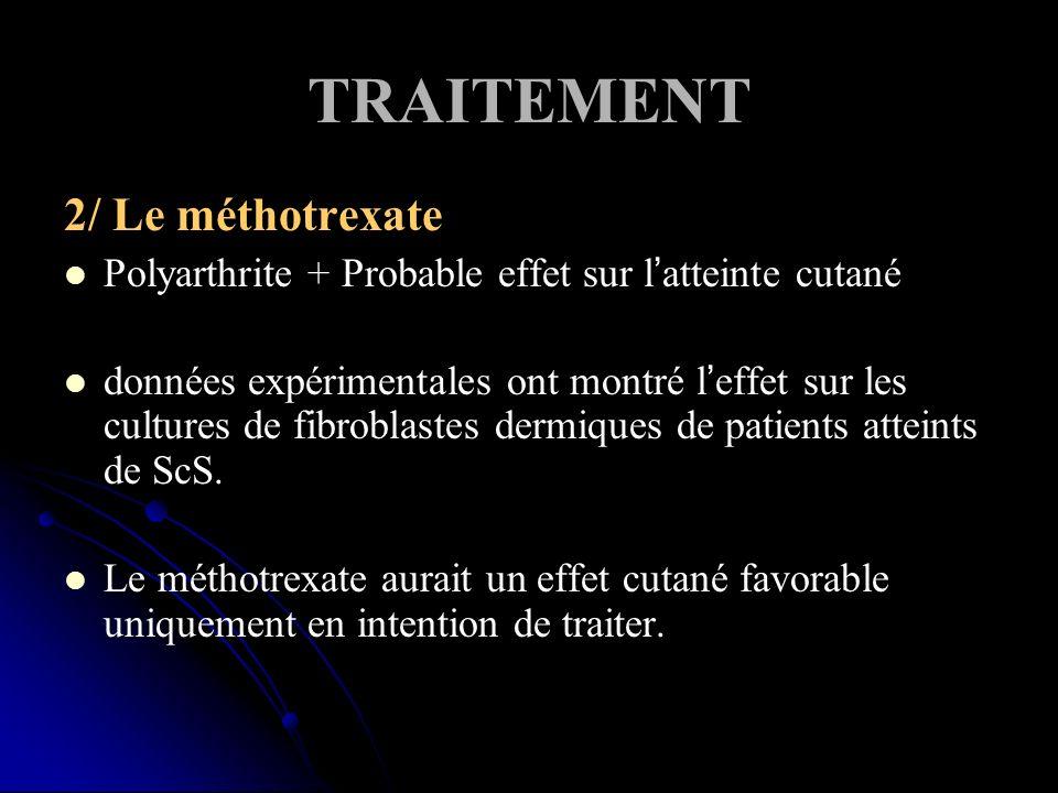 TRAITEMENT 2/ Le méthotrexate