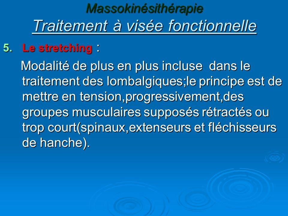 Massokinésithérapie Traitement à visée fonctionnelle