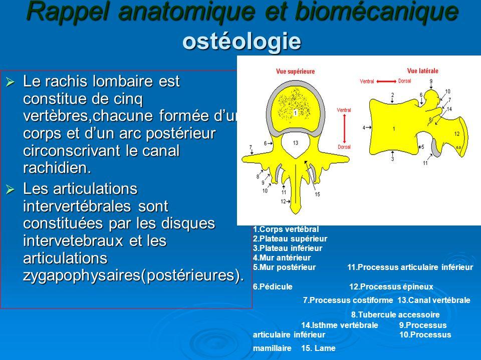Rappel anatomique et biomécanique ostéologie