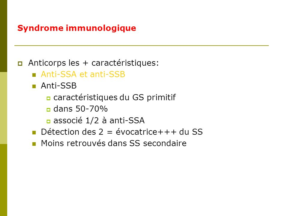 Syndrome immunologique