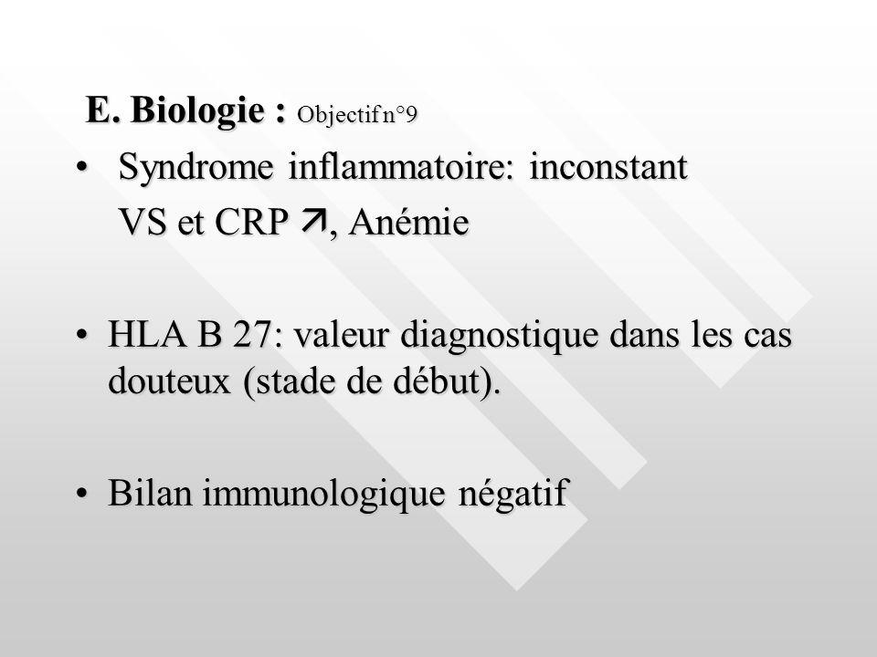 E. Biologie : Objectif n°9