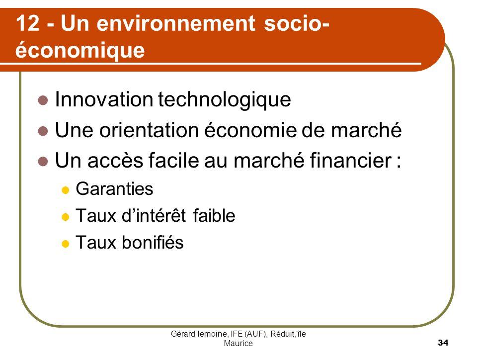 12 - Un environnement socio-économique