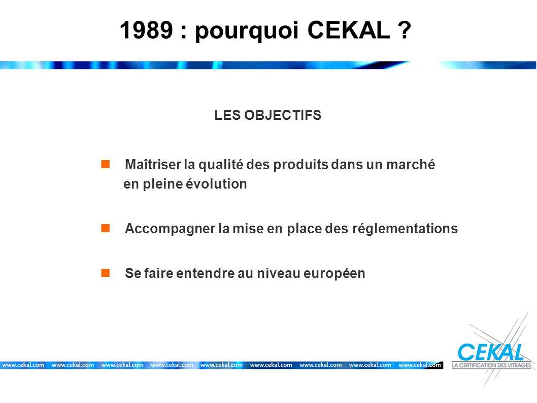1989 : pourquoi CEKAL LES OBJECTIFS