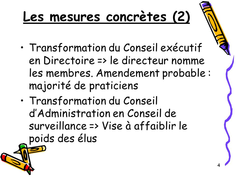 Les mesures concrètes (2)