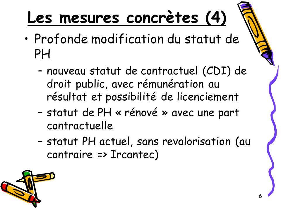 Les mesures concrètes (4)