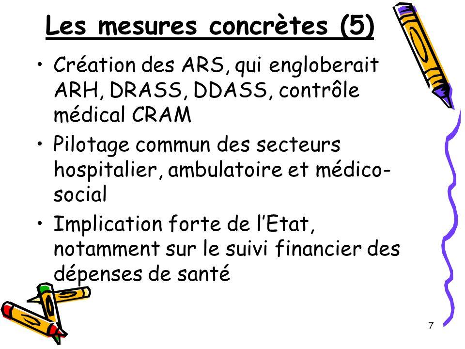 Les mesures concrètes (5)