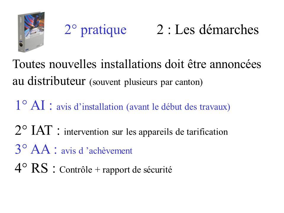 1° AI : avis d'installation (avant le début des travaux)