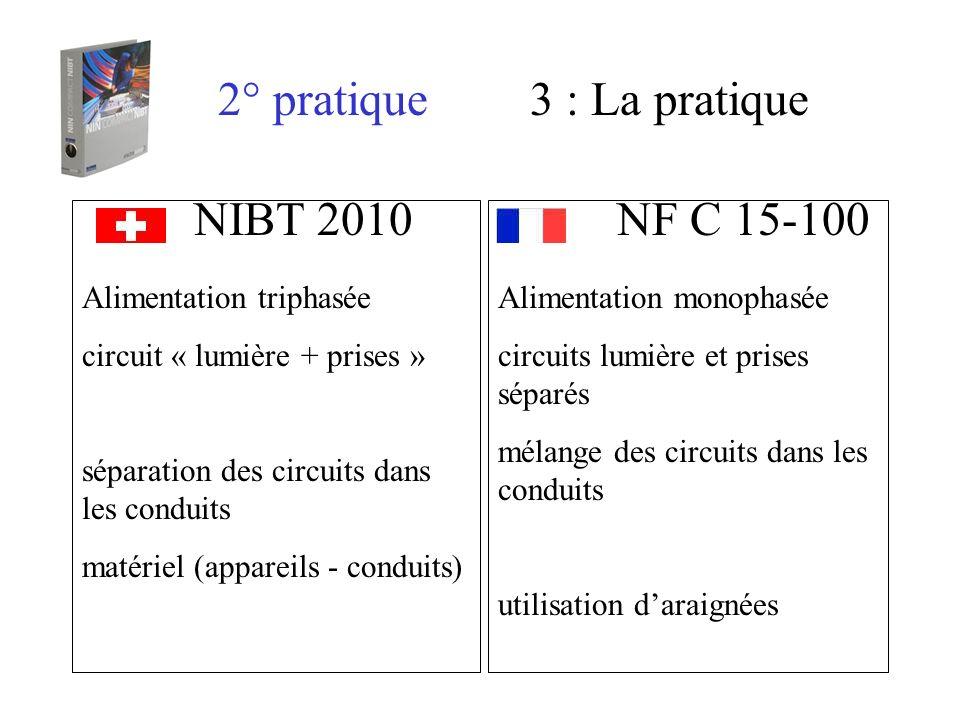 2° pratique 3 : La pratique NIBT 2010 NF C 15-100