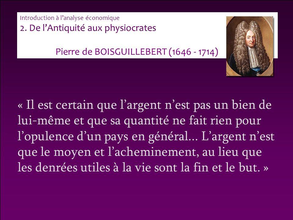 Pierre de BOISGUILLEBERT (1646 - 1714)