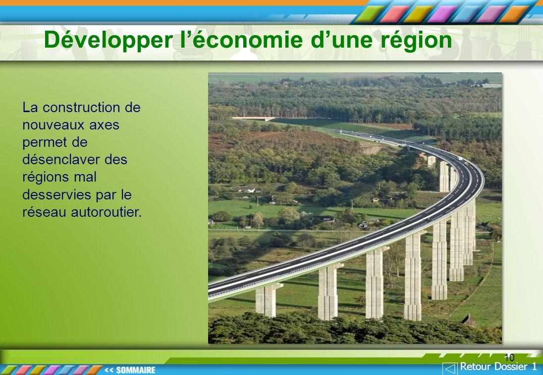 Développer l'économie d'une région