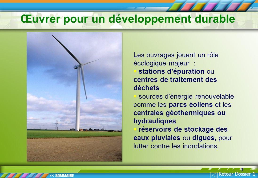 Œuvrer pour un développement durable