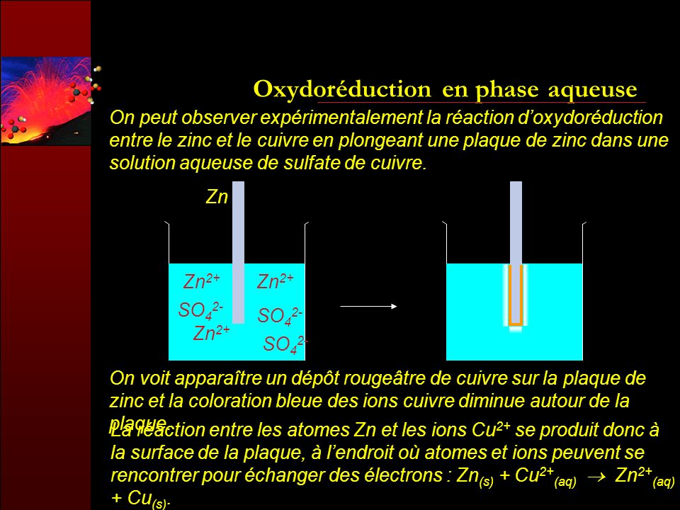 Oxydoréduction en phase aqueuse