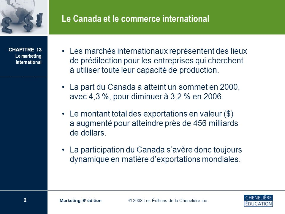 Le Canada et le commerce international