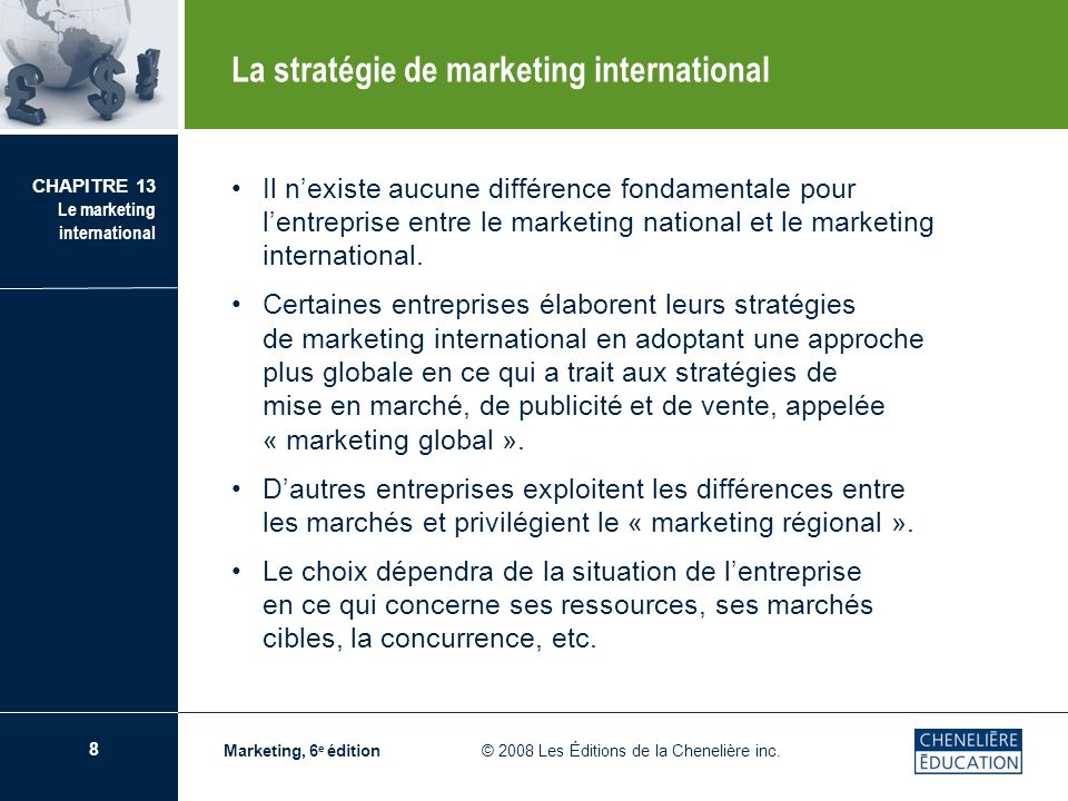 La stratégie de marketing international