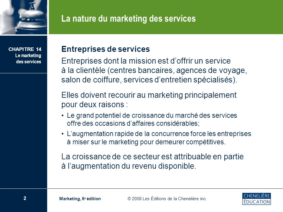 La nature du marketing des services
