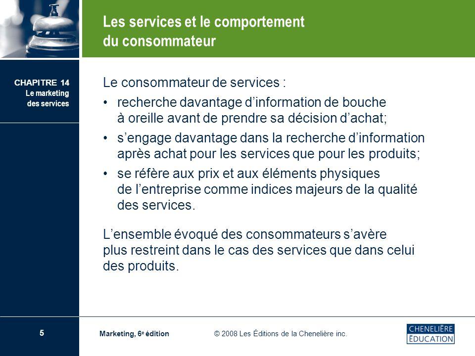 Les services et le comportement du consommateur
