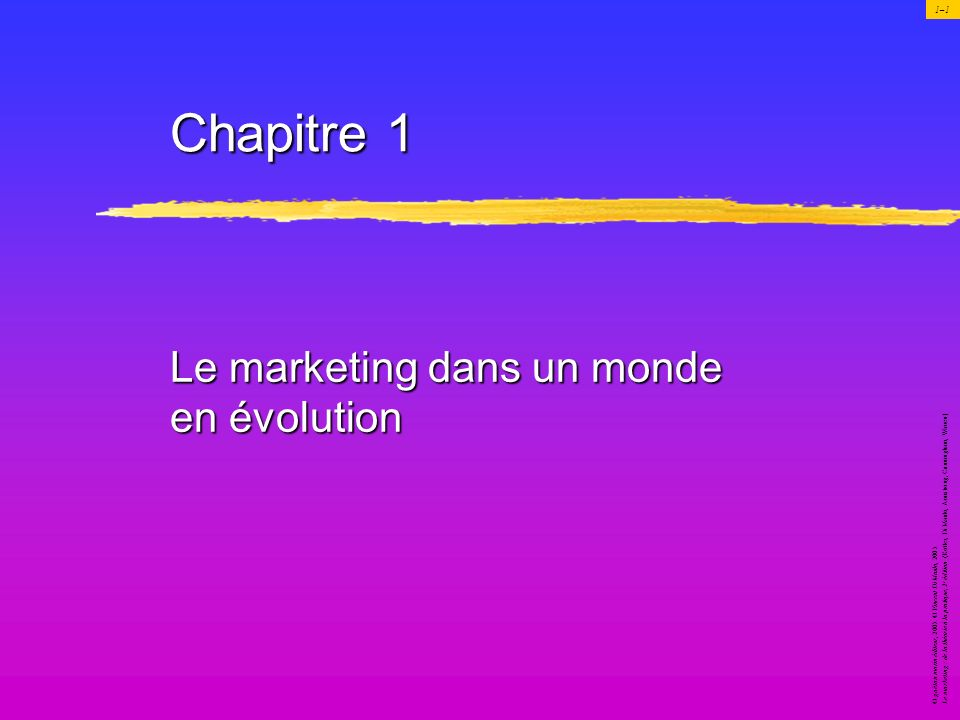 Le marketing dans un monde en évolution