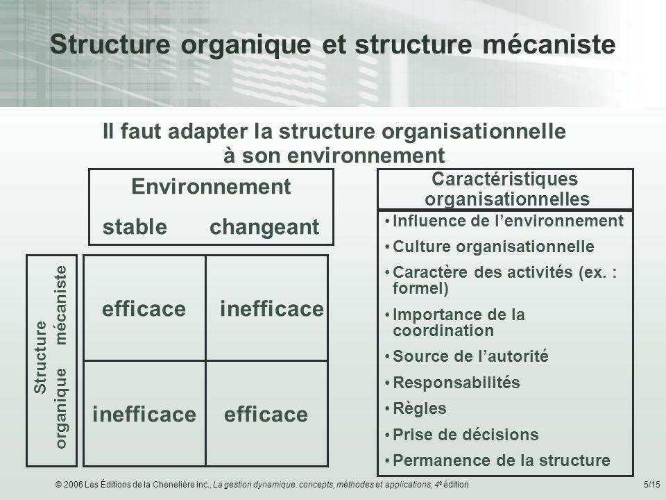 Structure organique et structure mécaniste