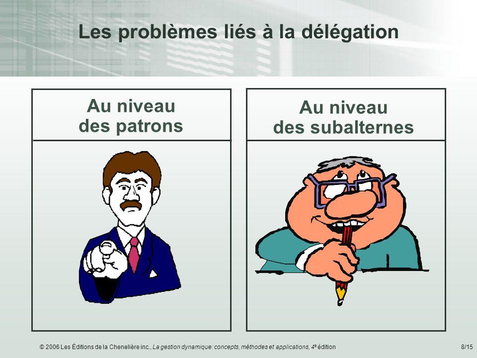 Les problèmes liés à la délégation